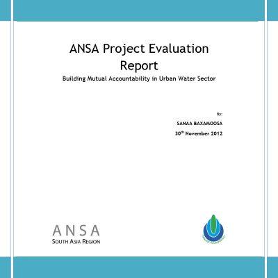 Building Mutual Accountability in Urban Water Sector