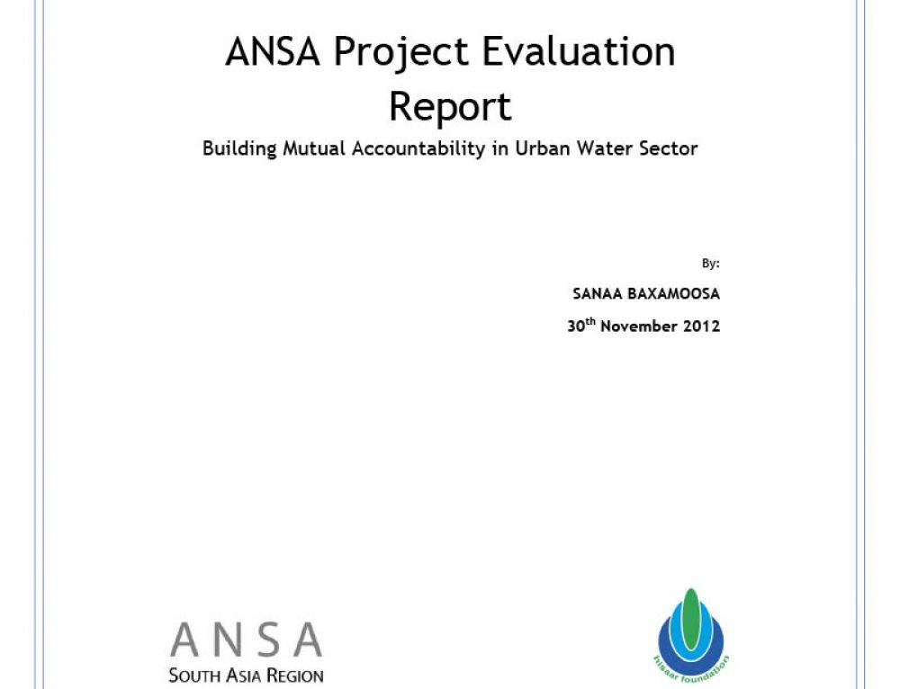 Building Mutual Accountability in Urban Water Sector