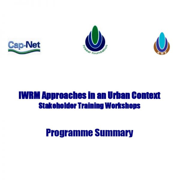 IWRM Approaches in an Urban Context Stakeholder Training