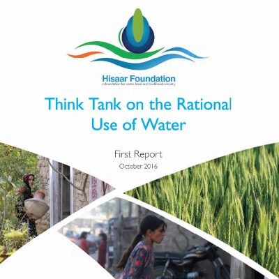Think Tank on the Rational Use of Water First Report October 2016