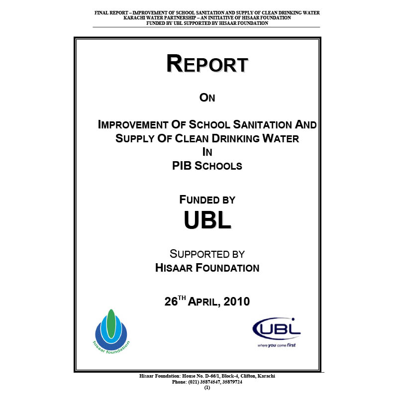 Final Report of Rehab by UBL 300410