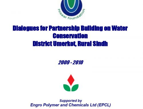 Dialogues for Partnership Building on Water Conservation District Umerkot, Rural Sindh