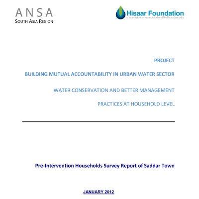 Pre-Intervention HH Survey report