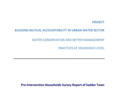 Building Mutual Accountability in Urban Water Sector -School Water Conservation and Better Management Practices at Household Level