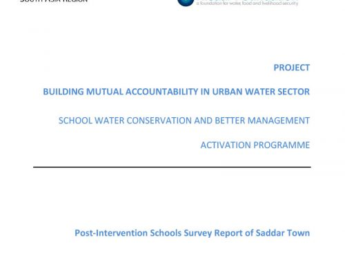 Building Mutual Accountability in Urban Water Sector -School Water Conservation and Better Management Activation Programme
