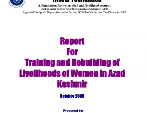 Training and Rebuilding of Livelihoods of Women in Azad Kashmir