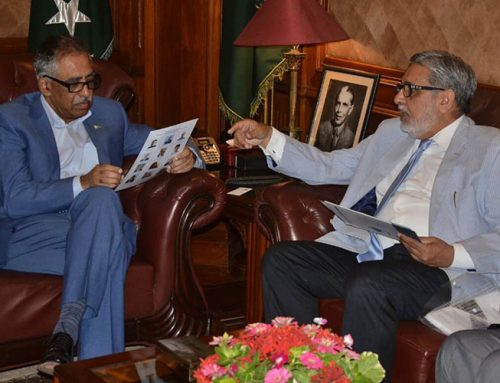 Meeting with Governor of Sindh