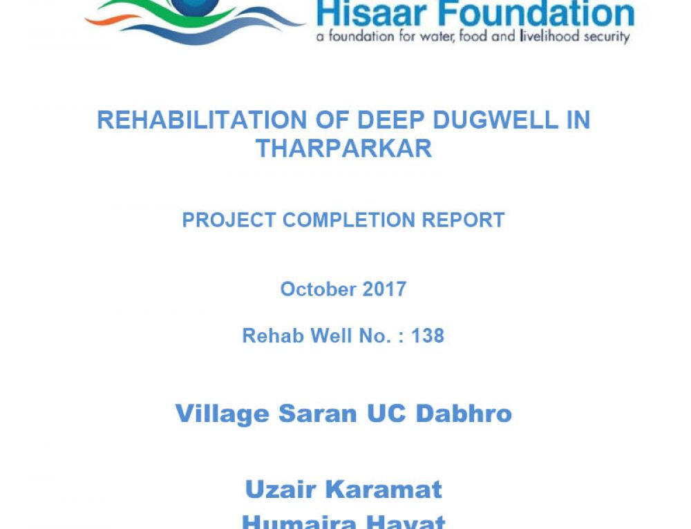 Rehabilitation Of Deep Dugwell In Tharparkar | Village Saran UC Dabhro