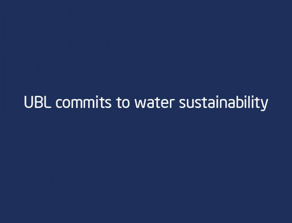 UBL commits to water sustainability