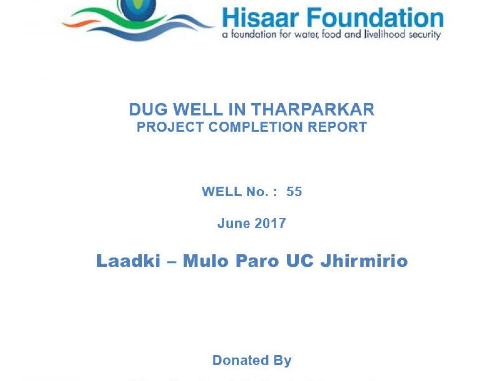 Deep Dugwell In Tharparkar | Laadki – Mulo Paro UC Jhirmirio