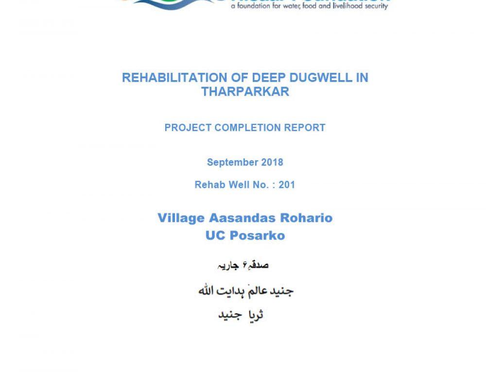 Rehabilitation of Deep Dugwell in Tharparkar