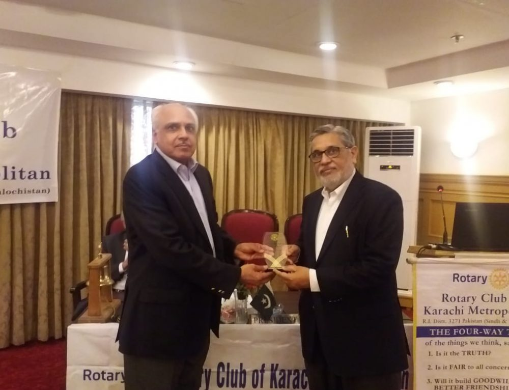 Rotary Club of Karachi Metropolitan Luncheon meeting